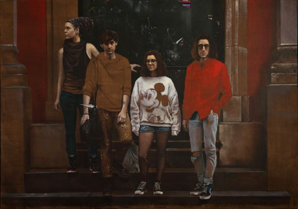Anthony and his friends, Oil, 150 x 210 cm
