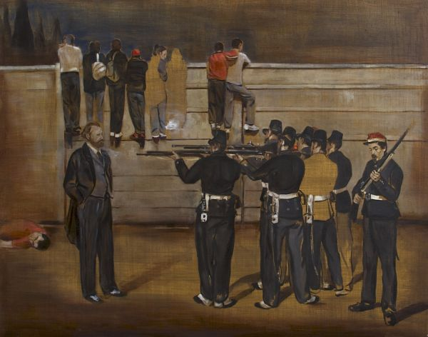 The execution of Manet, Oil, 95 x 75 cm