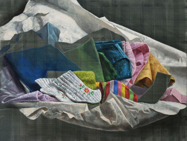 Wrapped II, Oil, 125 x 95 cm