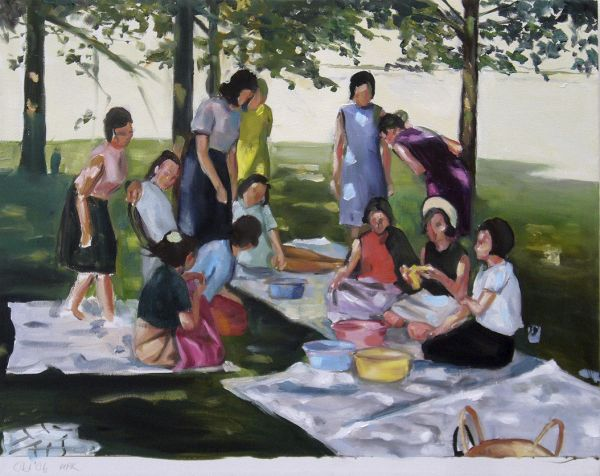Picknick, Oil, 40 x 30 cm