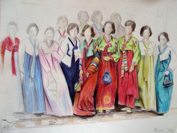 Saluti da Roma, Colorpencil, 30 x 20 cm