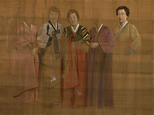 Alles Gute den zwei Schwestern, Oil, 160 x 120 cm