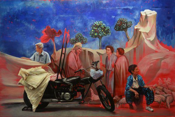 Tales from Padua, Oil, 300 x 200 cm